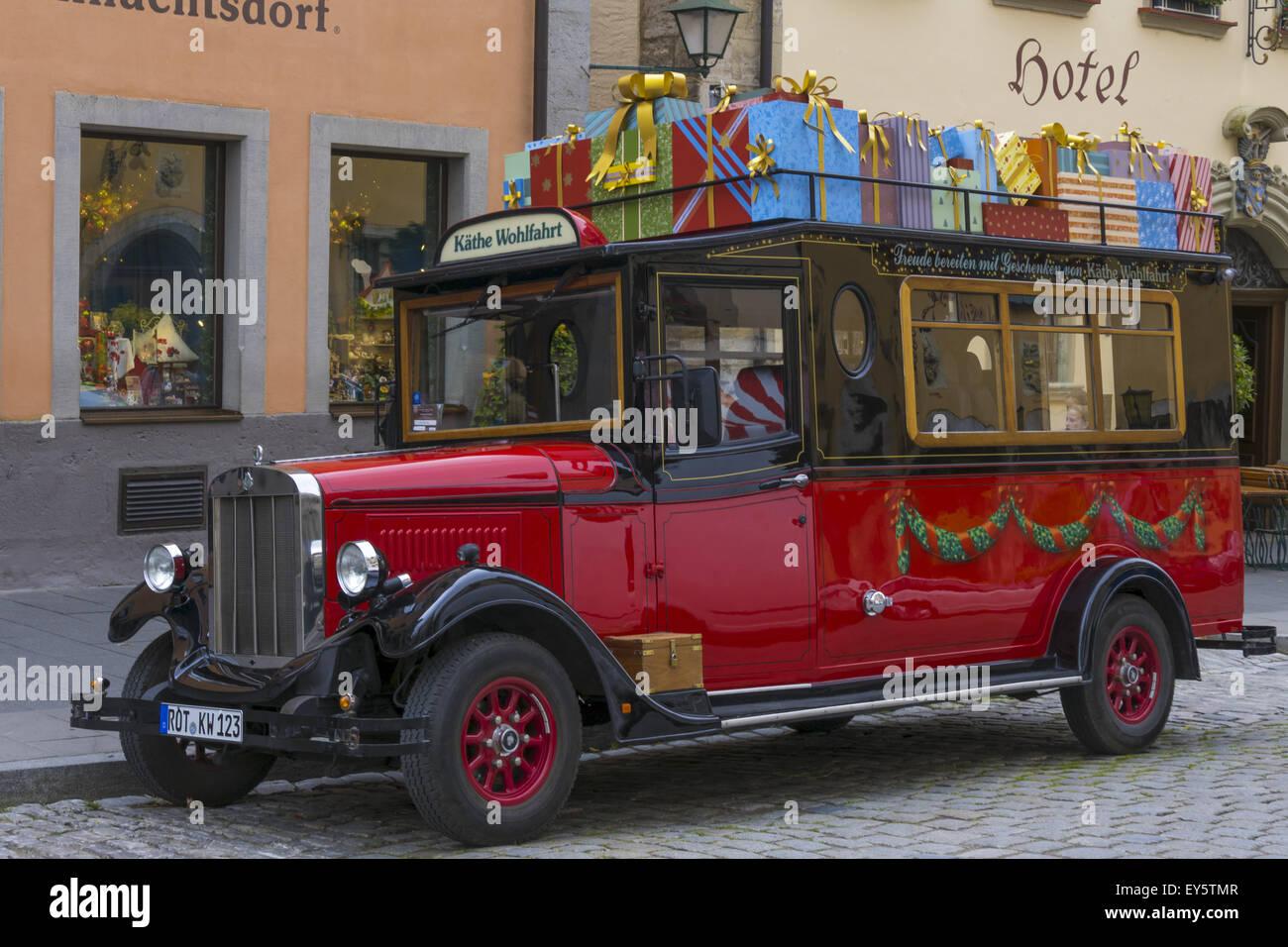 Kaethe Wohlfahrt Weihnachtsdorf shop, a vintage car parking in front ...