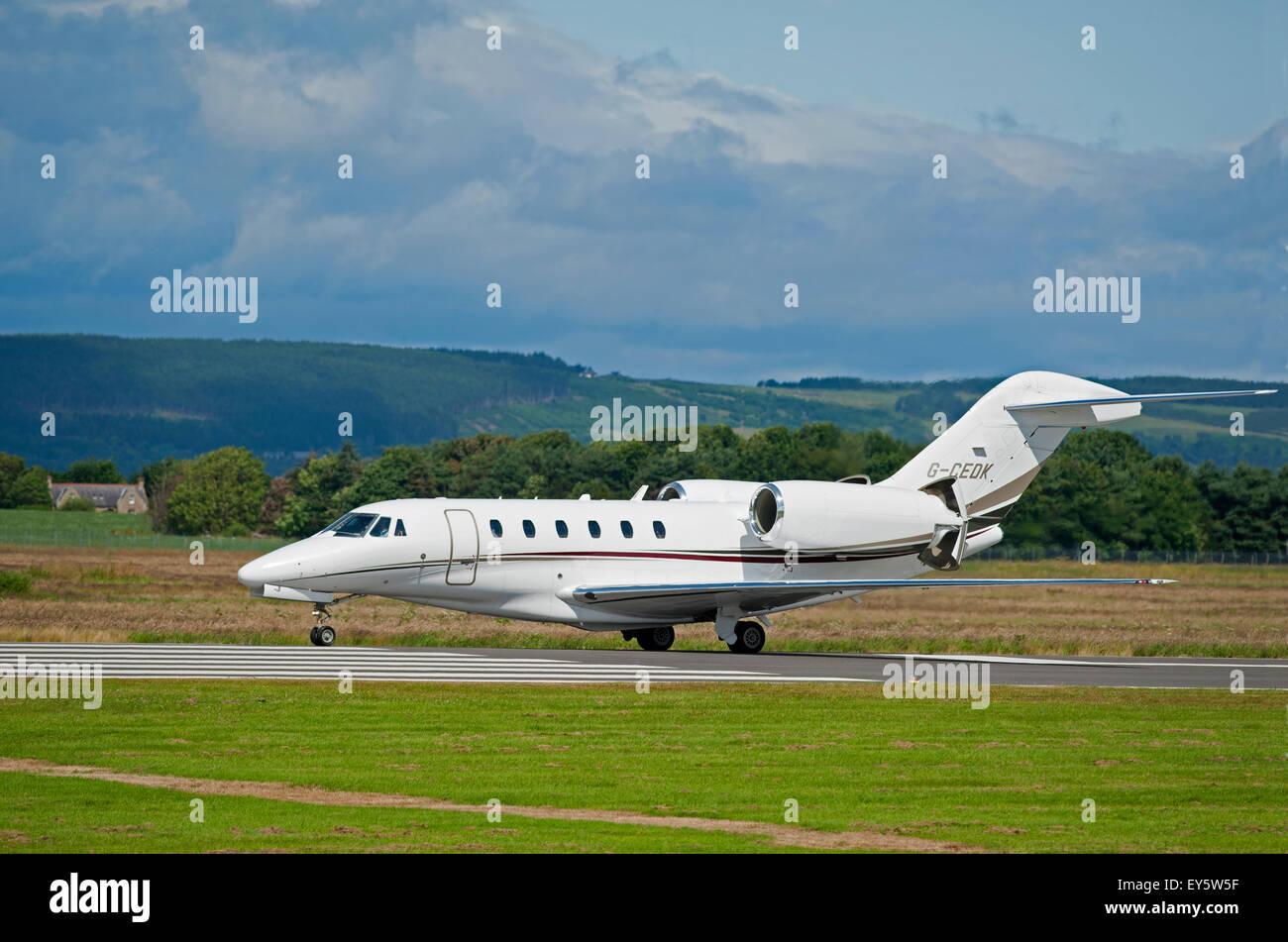 Cessna 750 Citation X Corporate Business Jet Aircraft   SCO 9984. - Stock Image