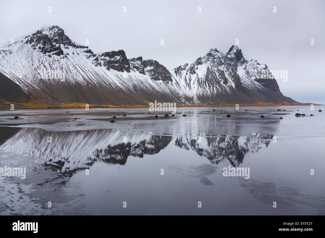Stokksnes península - Hofn Iceland Stock Photo