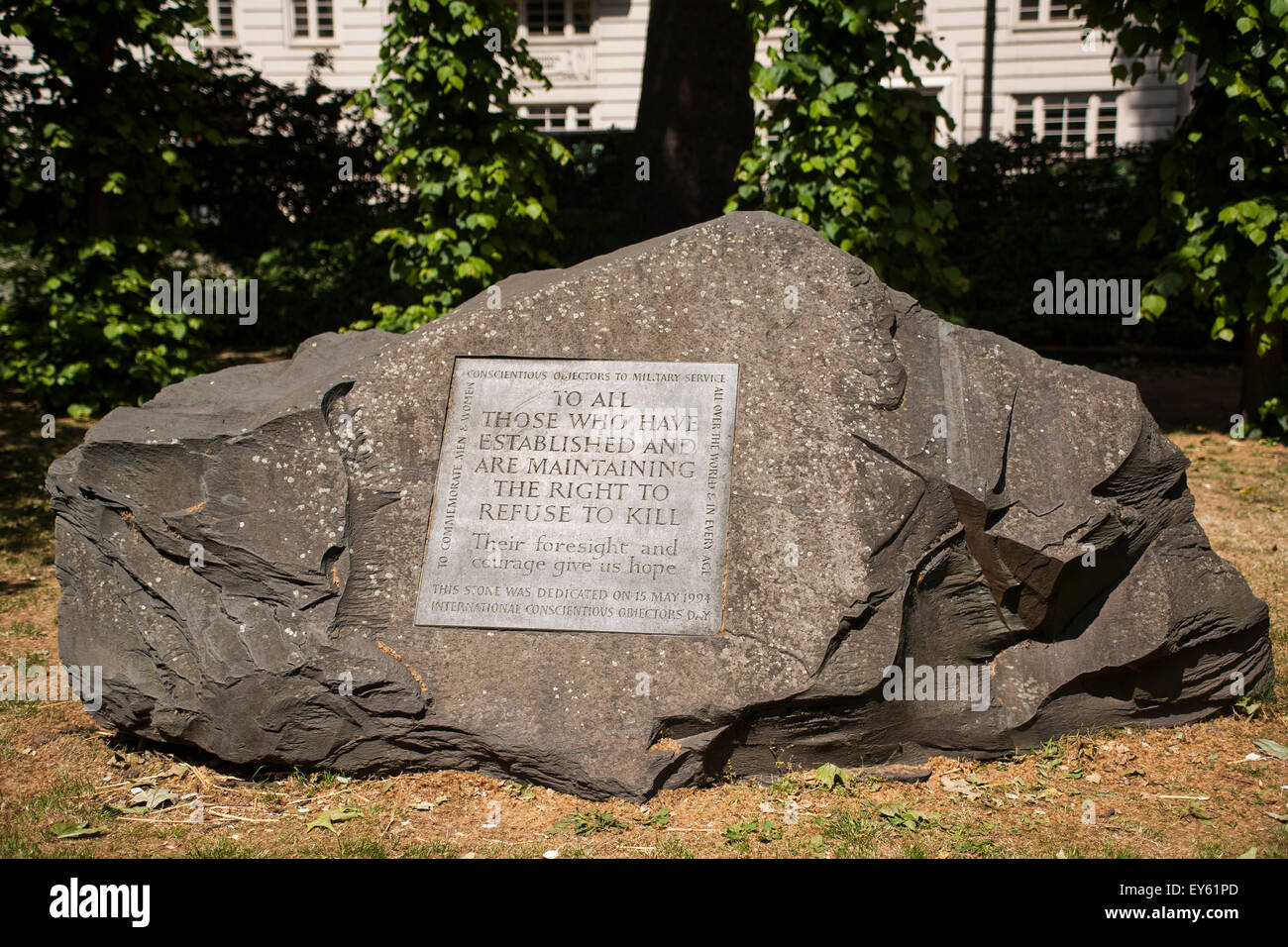 England, London, Conscientious Objectors' memorial - Stock Image