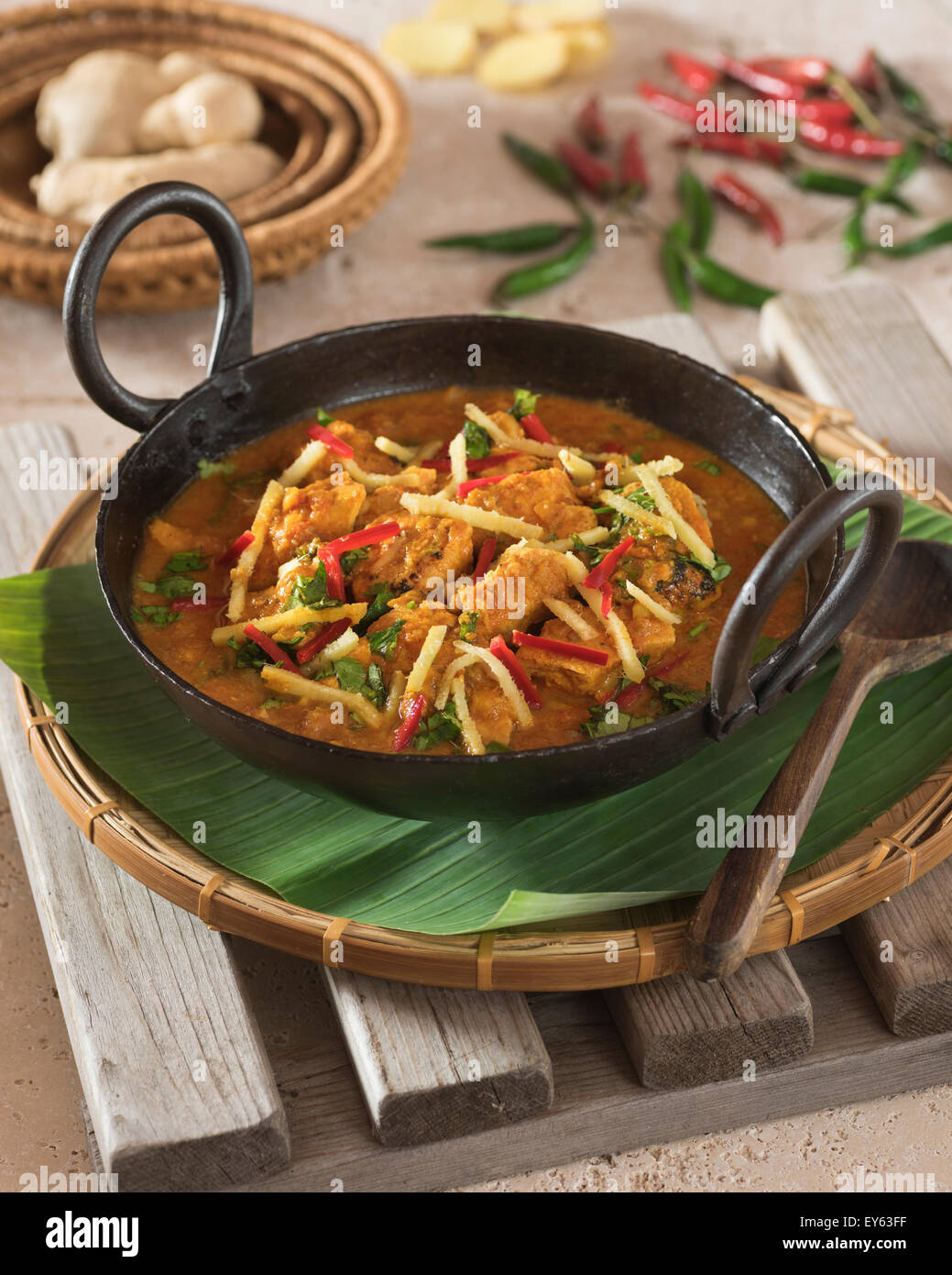 Adraki Murgh Ginger Chicken Curry India Food Stock Photo