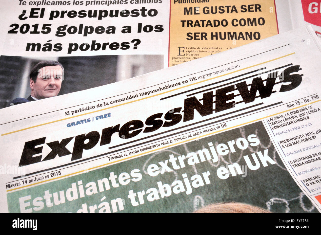 Express News - free Spanish newspaper available in London