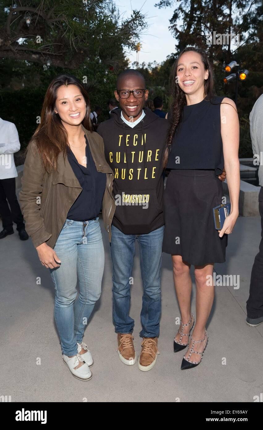 Celebrating the launch of SHYP (shyp.com) held at a private residence in Beverly Hills  Featuring: Evelyn Rusli, - Stock Image