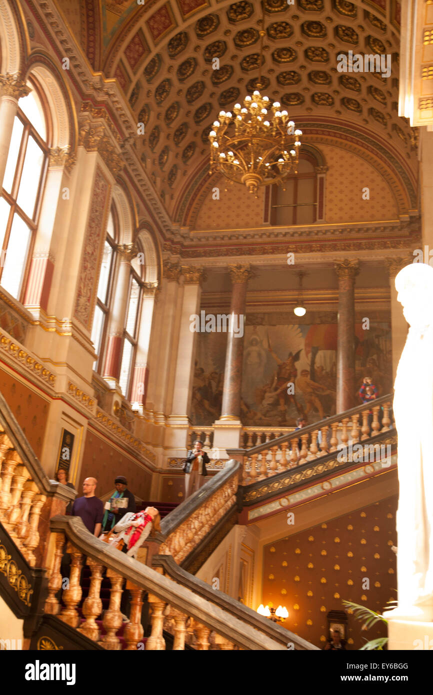 The Grand Staircase, The Foreign and Commonwealth Office, Whitehall, London, England Stock Photo