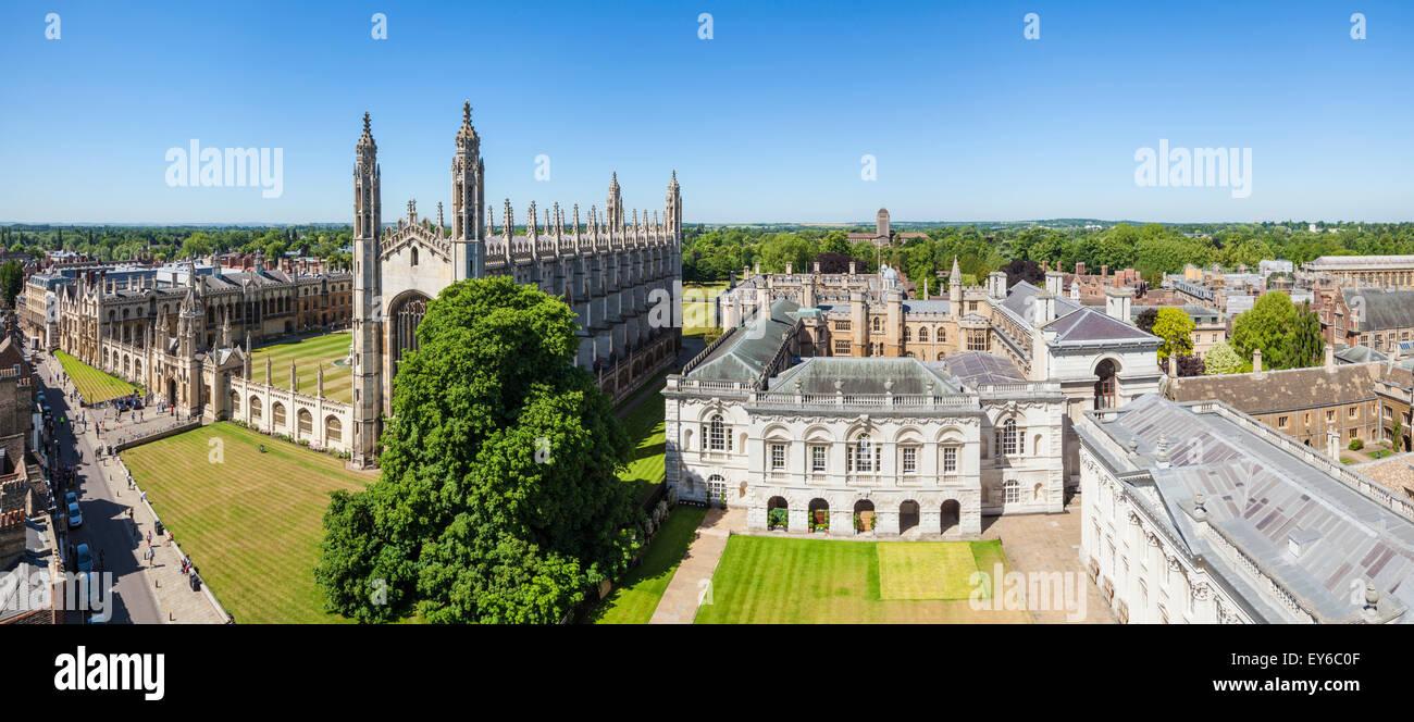 Kings College Chapel and Cambridge University Skyline Cambridgeshire England UK GB EU Europe - Stock Image