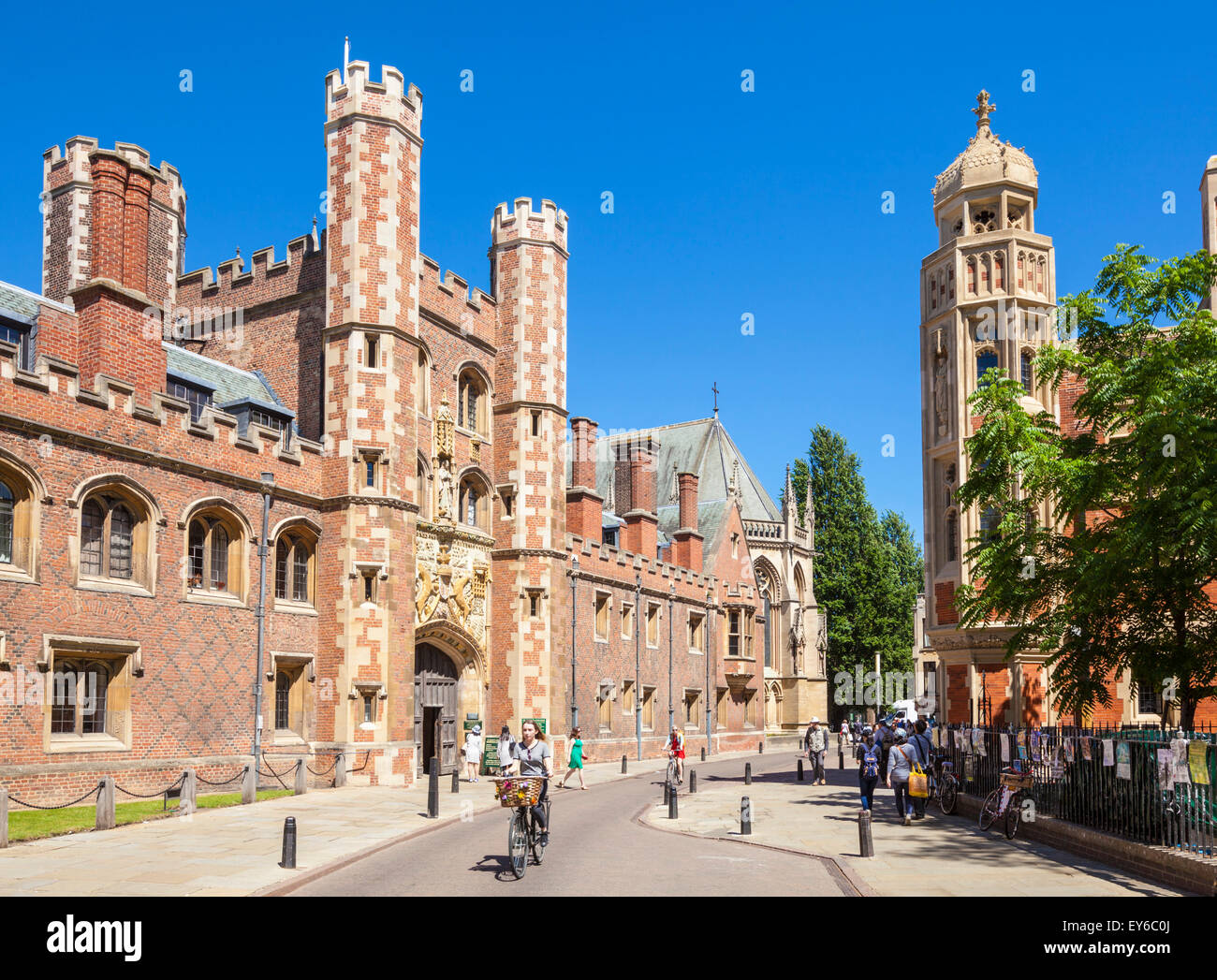 St Johns College entrance St Johns street Cambridge University Cambridge Cambridgeshire England UK GB EU Europe - Stock Image