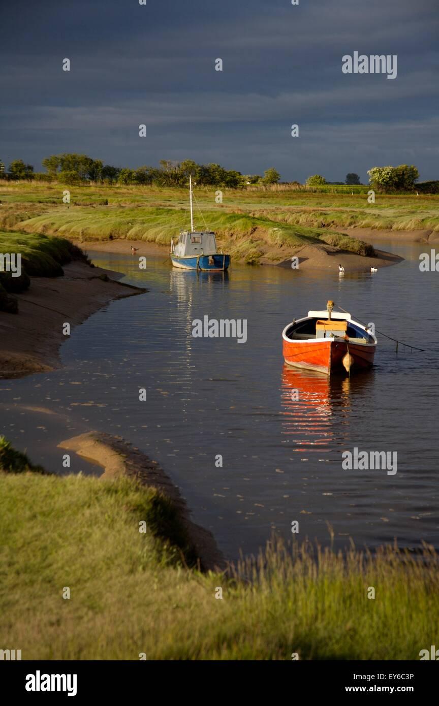 Conder estuary, Conder Green Lancashire, England - Stock Image