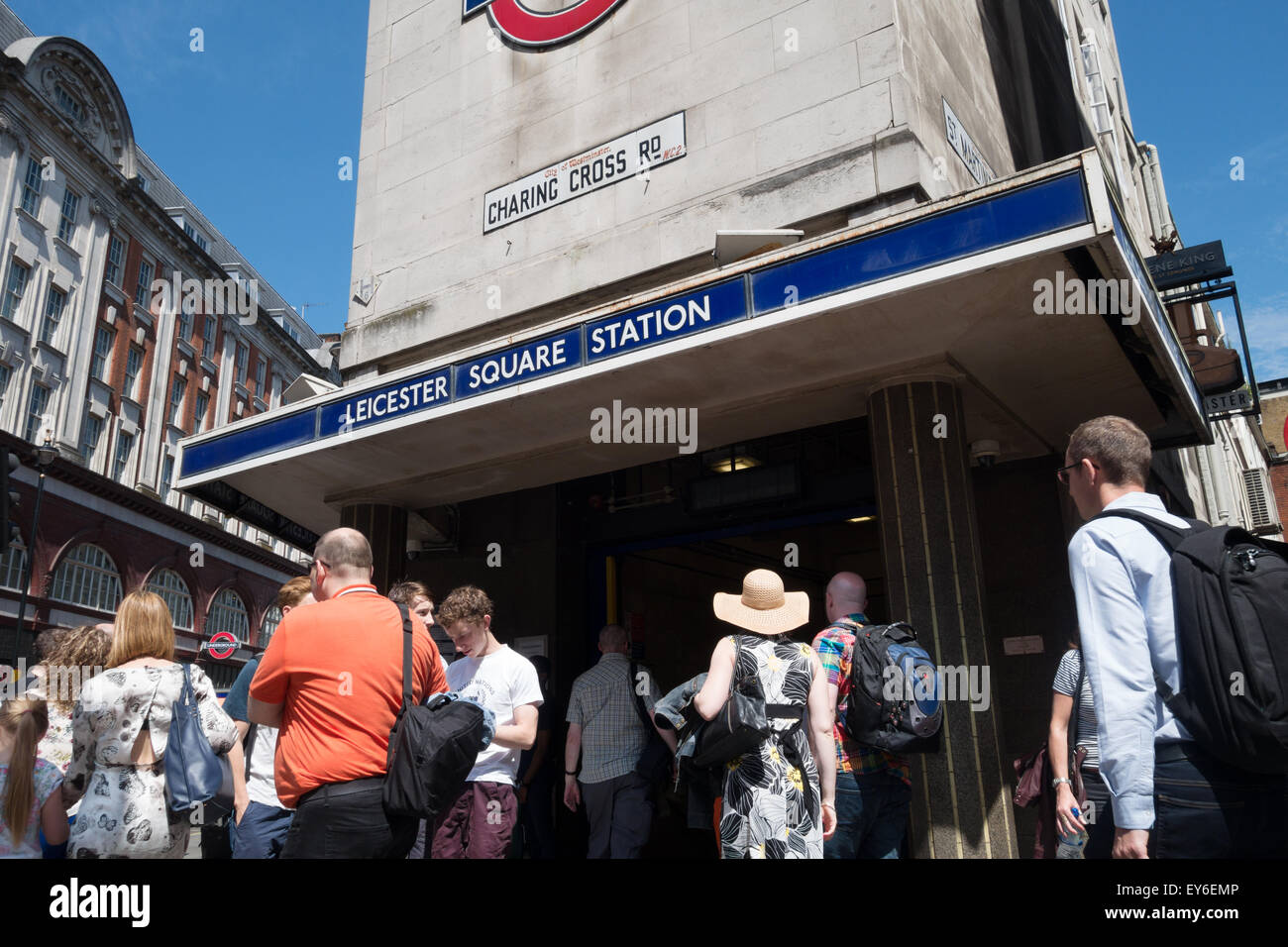 Leicester Square Underground tube station, London WC2 UK - Stock Image