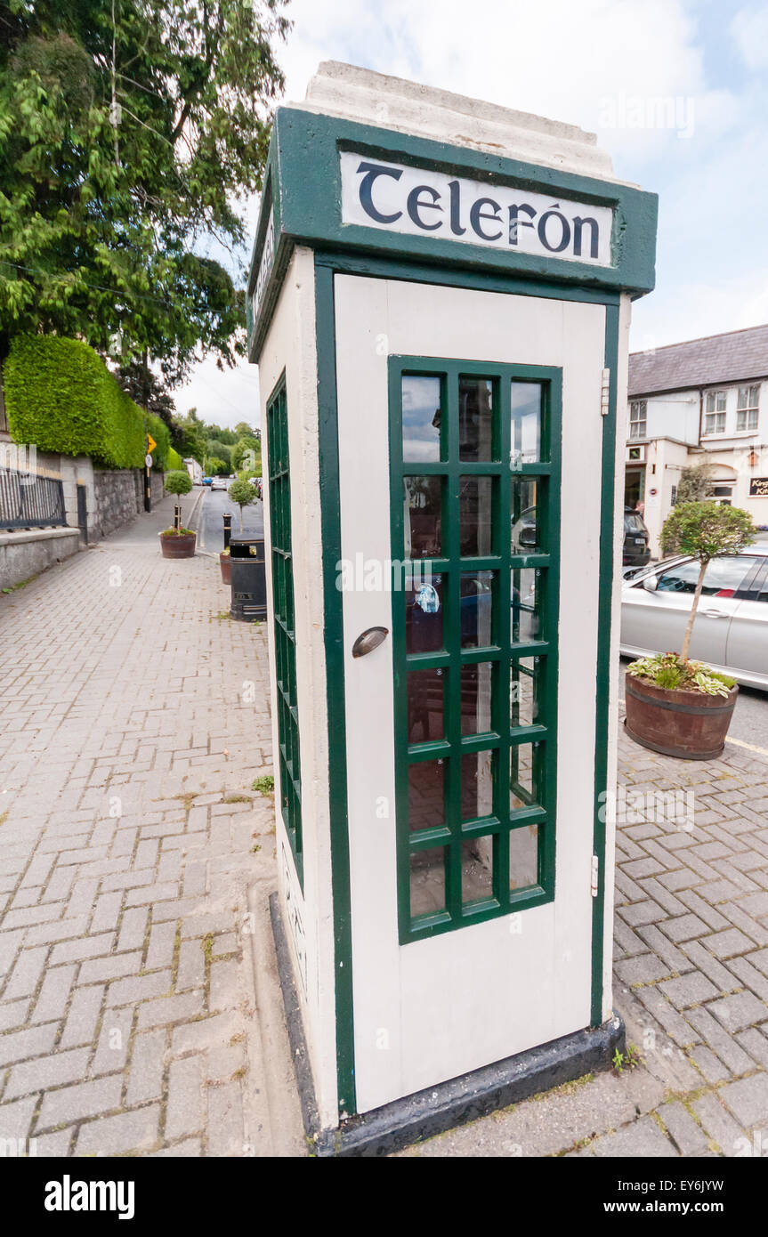 Irish telephone box - Stock Image