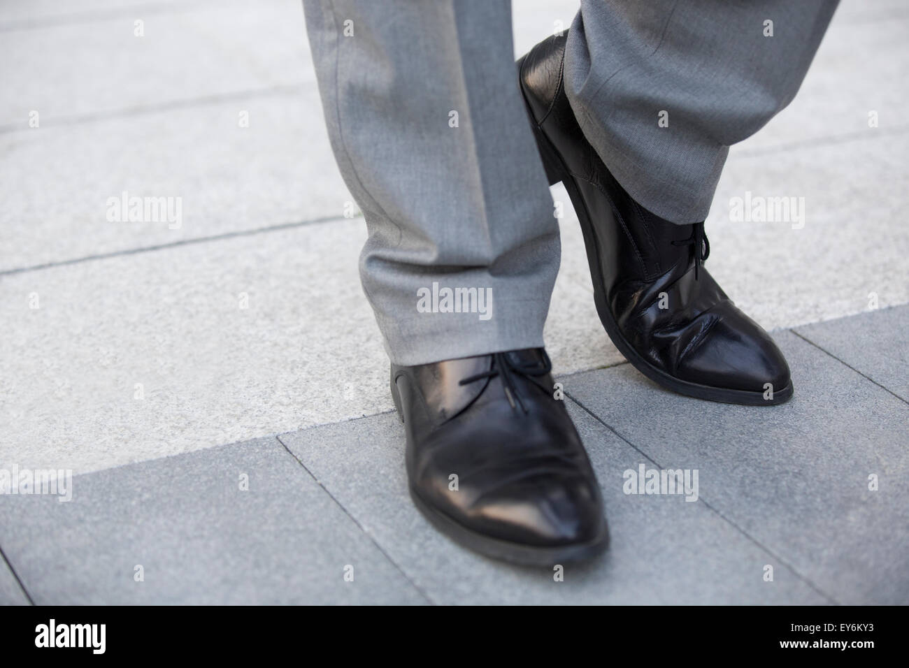 Businessman's feet - Stock Image