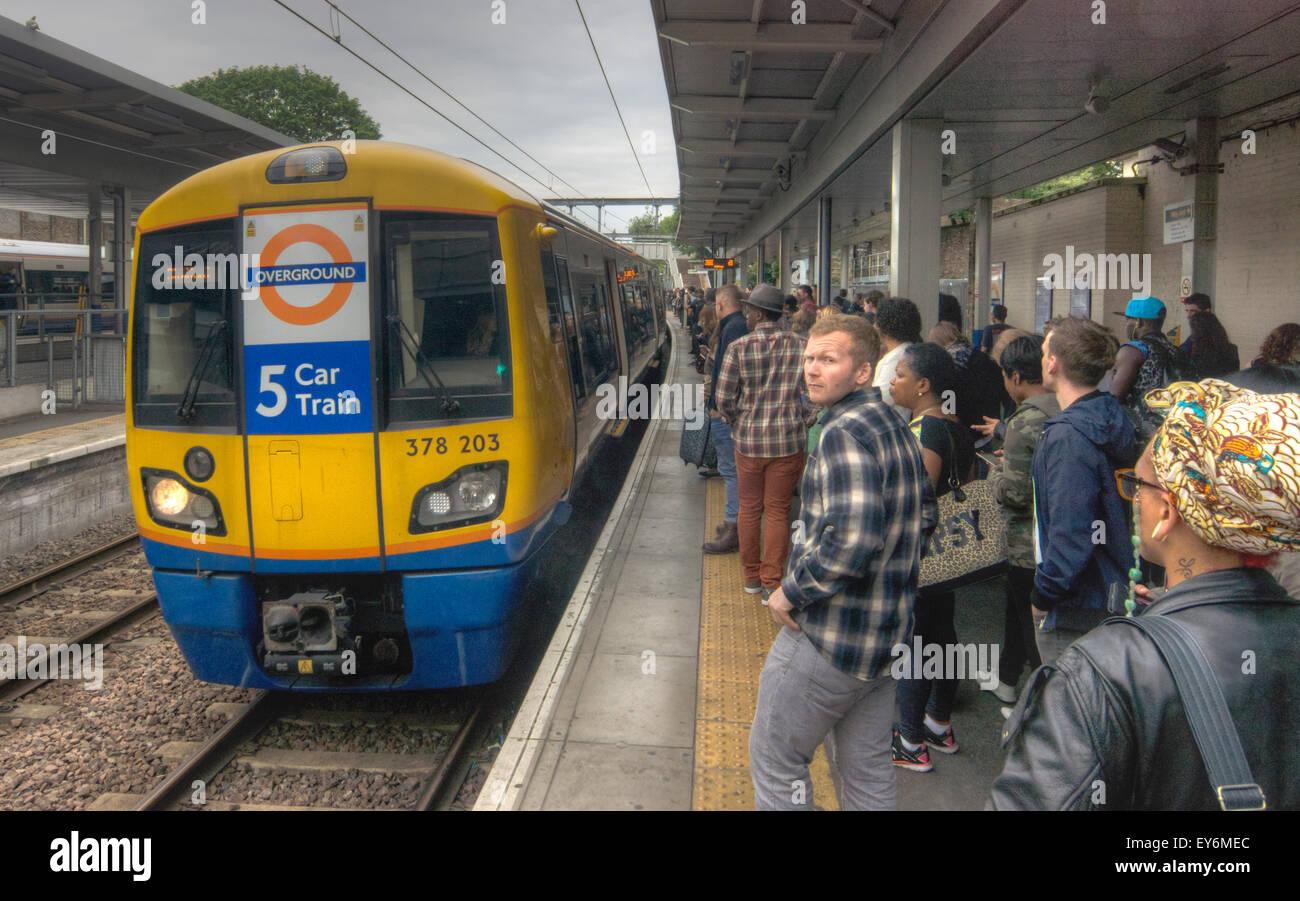 London Overground.  Highbury and Islington - Stock Image