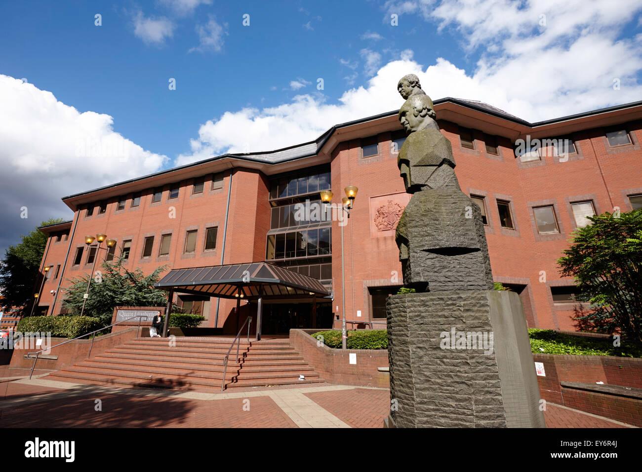 Queen Elizabeth 2 Law Courts Crown Court Birmingham Uk Stock Photo Alamy