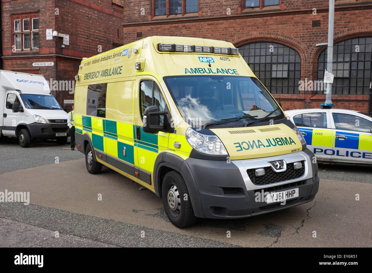 west midlands ambulance service emergency ambulance Birmingham UK - Stock Image