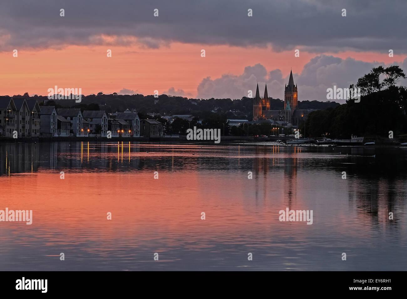 Truro Sunset - Stock Image