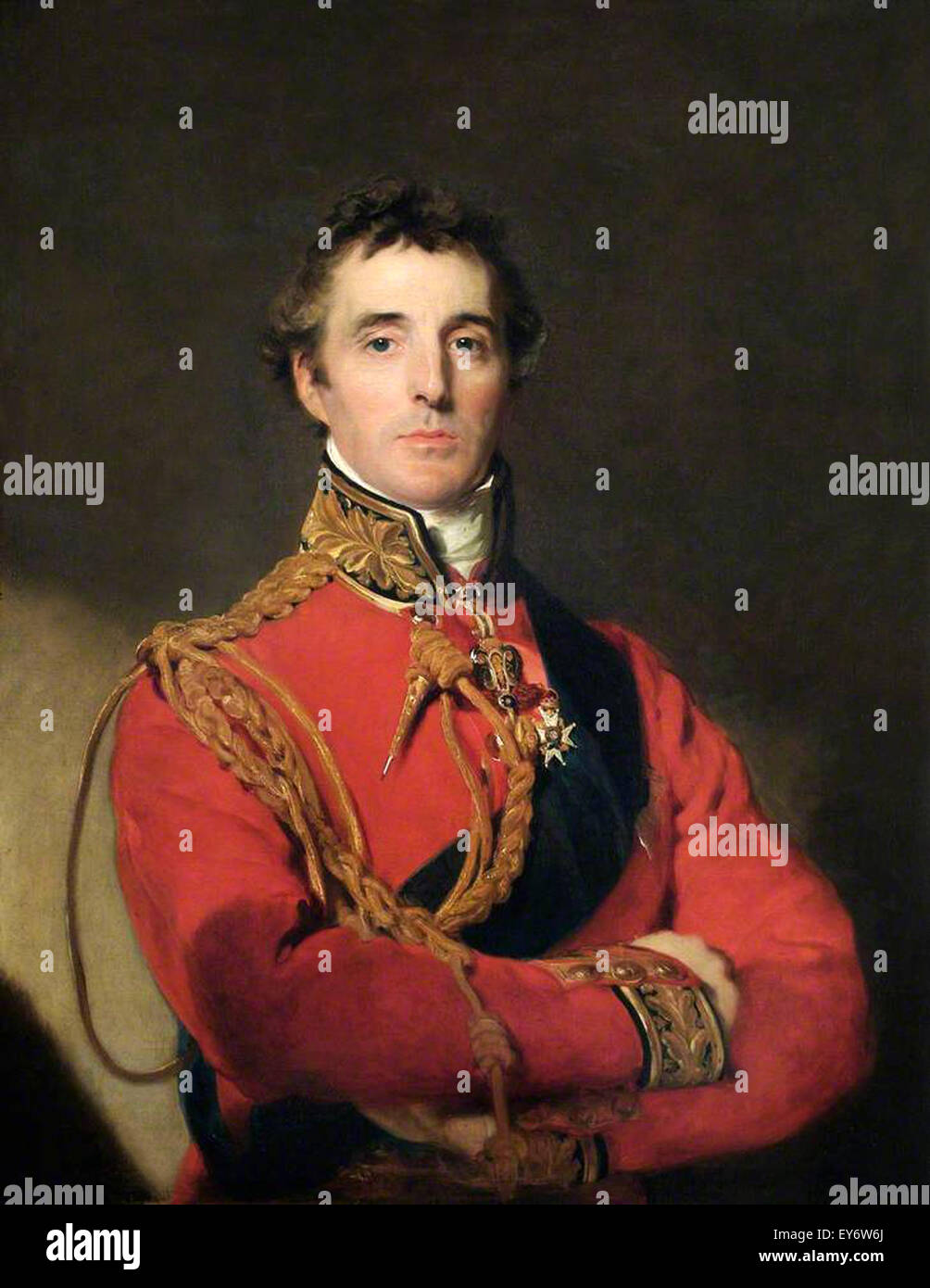 Field Marshal Arthur Wellesley the 1st Duke of Wellington wearing field marshal's uniform. - Stock Image