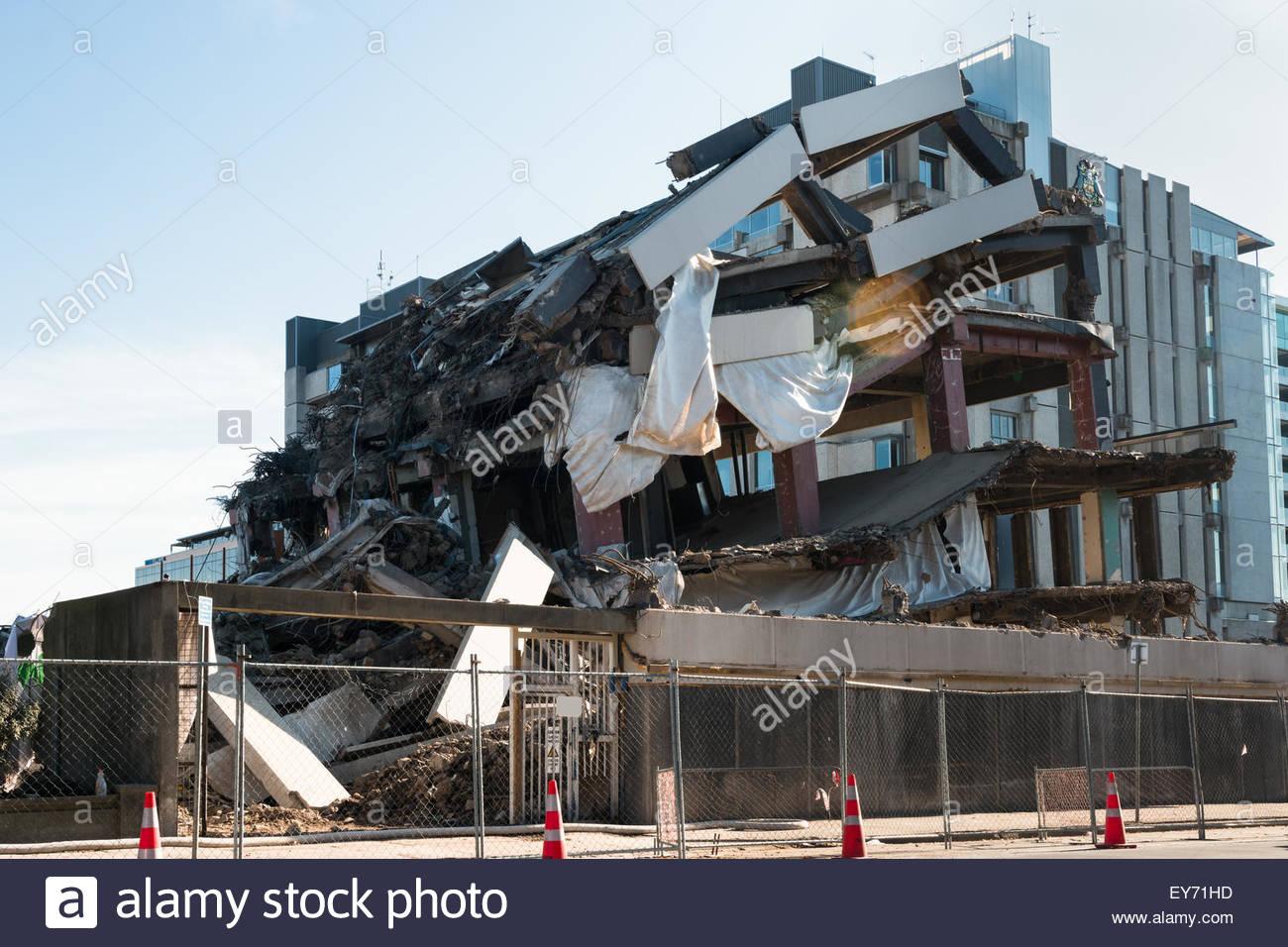 Christchurch New Zealand News: Building Demolished By An Earthquake, Christchurch, New