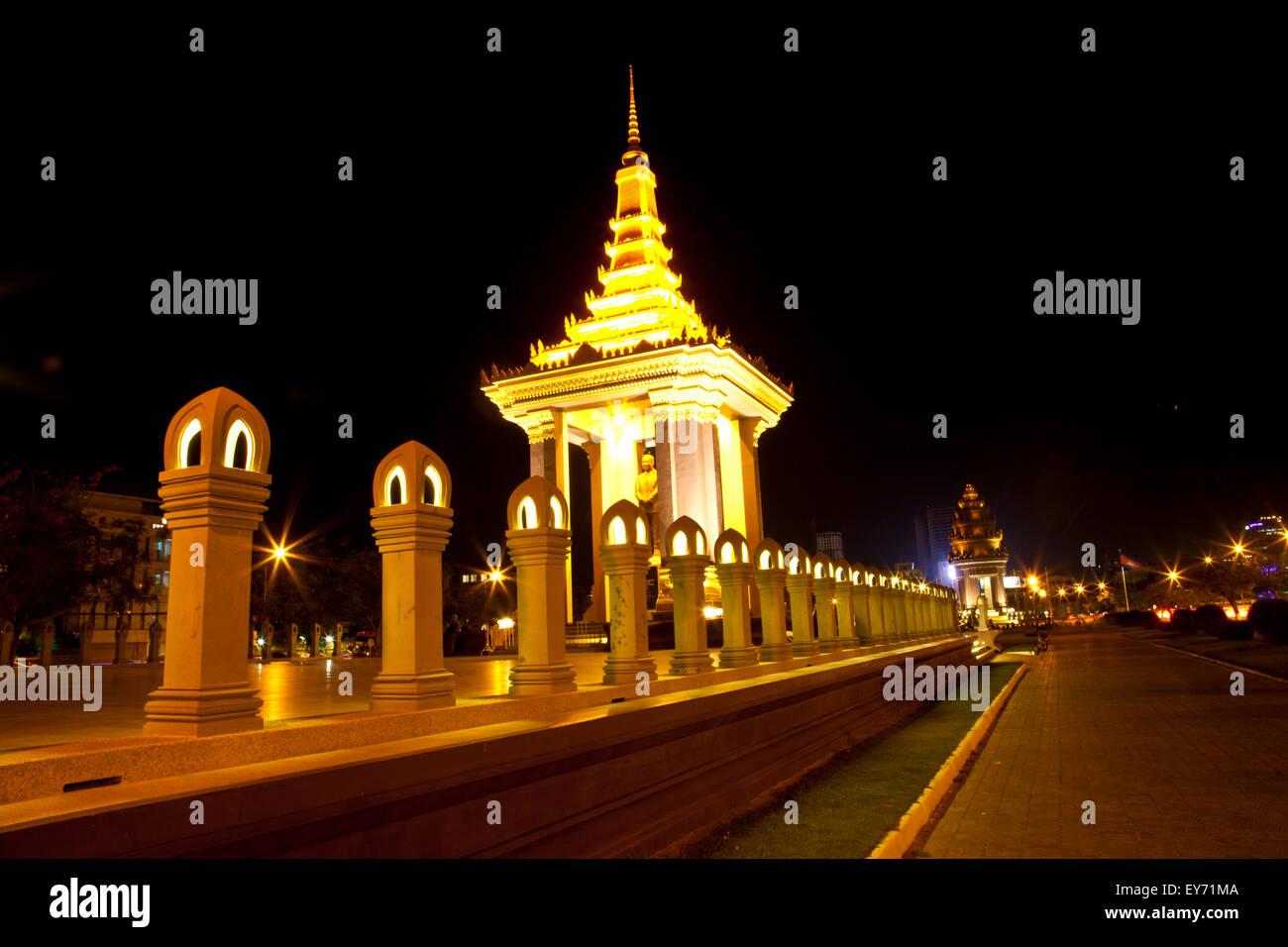 King Norodom Sihanouk Statue Stock Photo