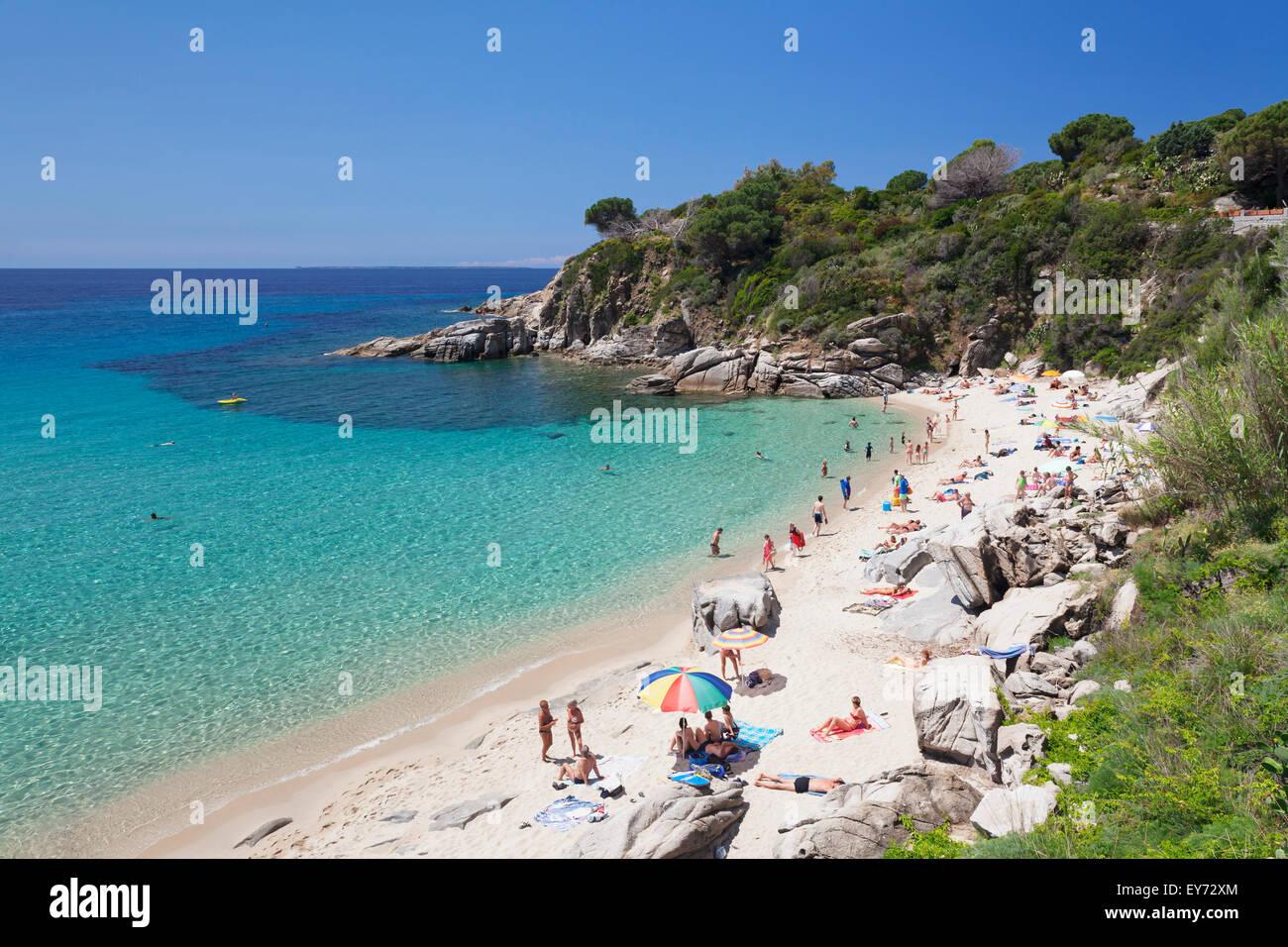 Beach of Cavoli, Elba, Livorno province, Tuscany, Italy - Stock Image