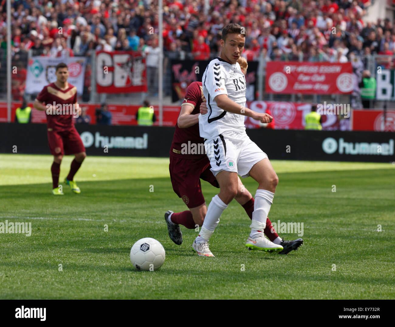 sports, football, Lower Rhine Cup, 2014/2015, final, Rot Weiss Essen versus Rot Weiss Oberhausen 6:5 on penalties, - Stock Image