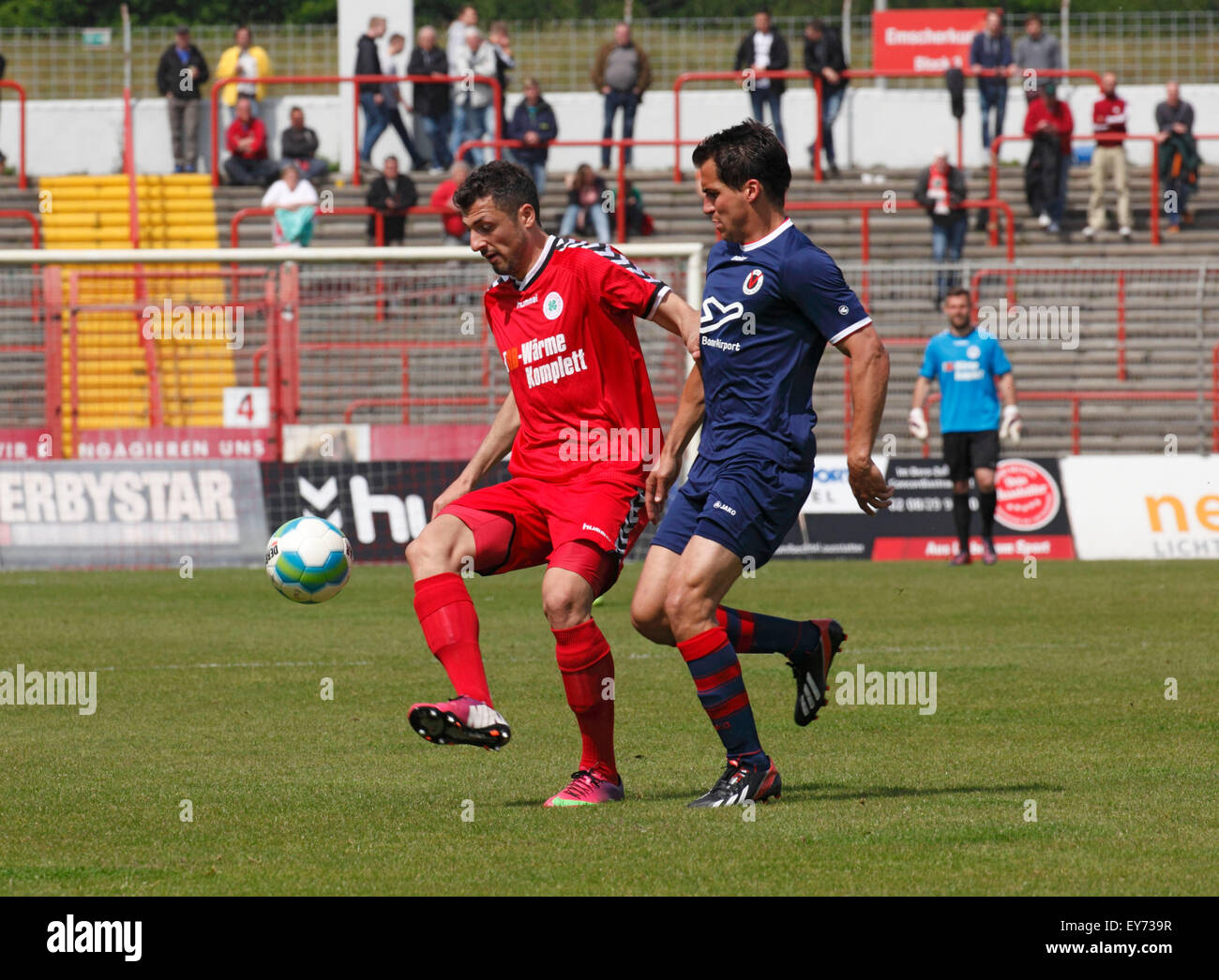 sports, football, Regional League West, 2014/2015, Rot Weiss Oberhausen versus FC Viktoria Koeln 3:2, Stadium Niederrhein - Stock Image