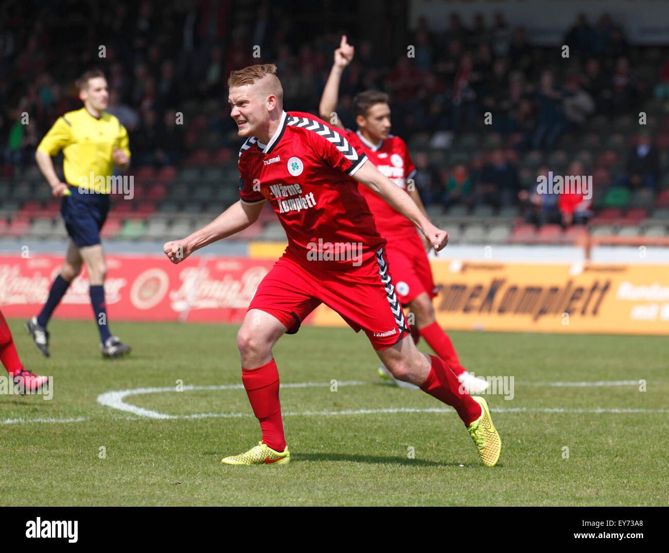 sports, football, Regional League West, 2014/2015, Rot Weiss Oberhausen versus FC Viktoria Koeln 3:2, Stadium Niederrhein Stock Photo