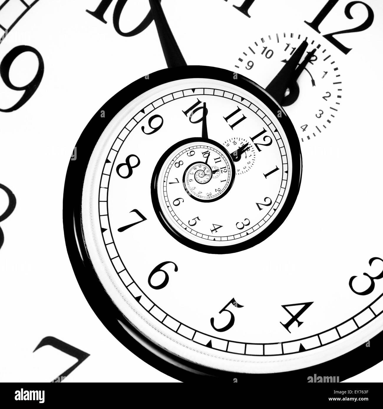 Time Warp - Time Dilation. Quantum mechanics meets general relativity. - Stock Image