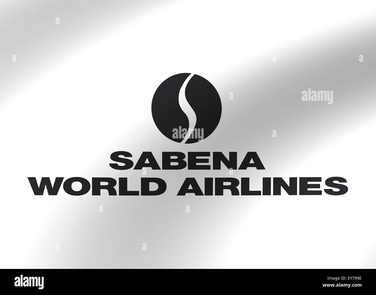 Sabena Airlines logo icon flag emblem sign Stock Photo