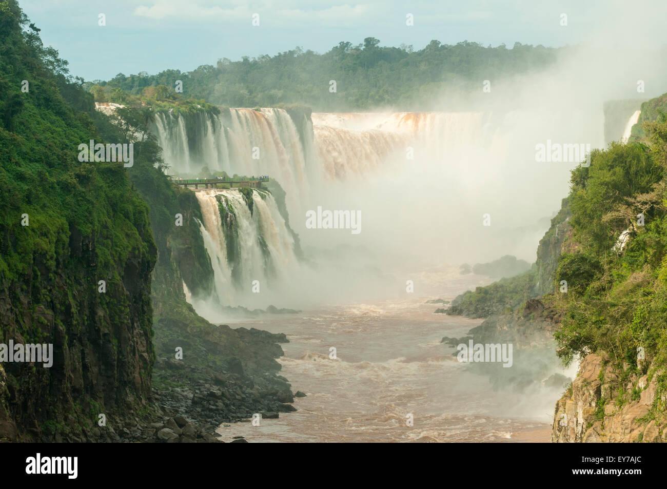 Rio Iguassu Inferior, Iguassu Falls, Argentina - Stock Image