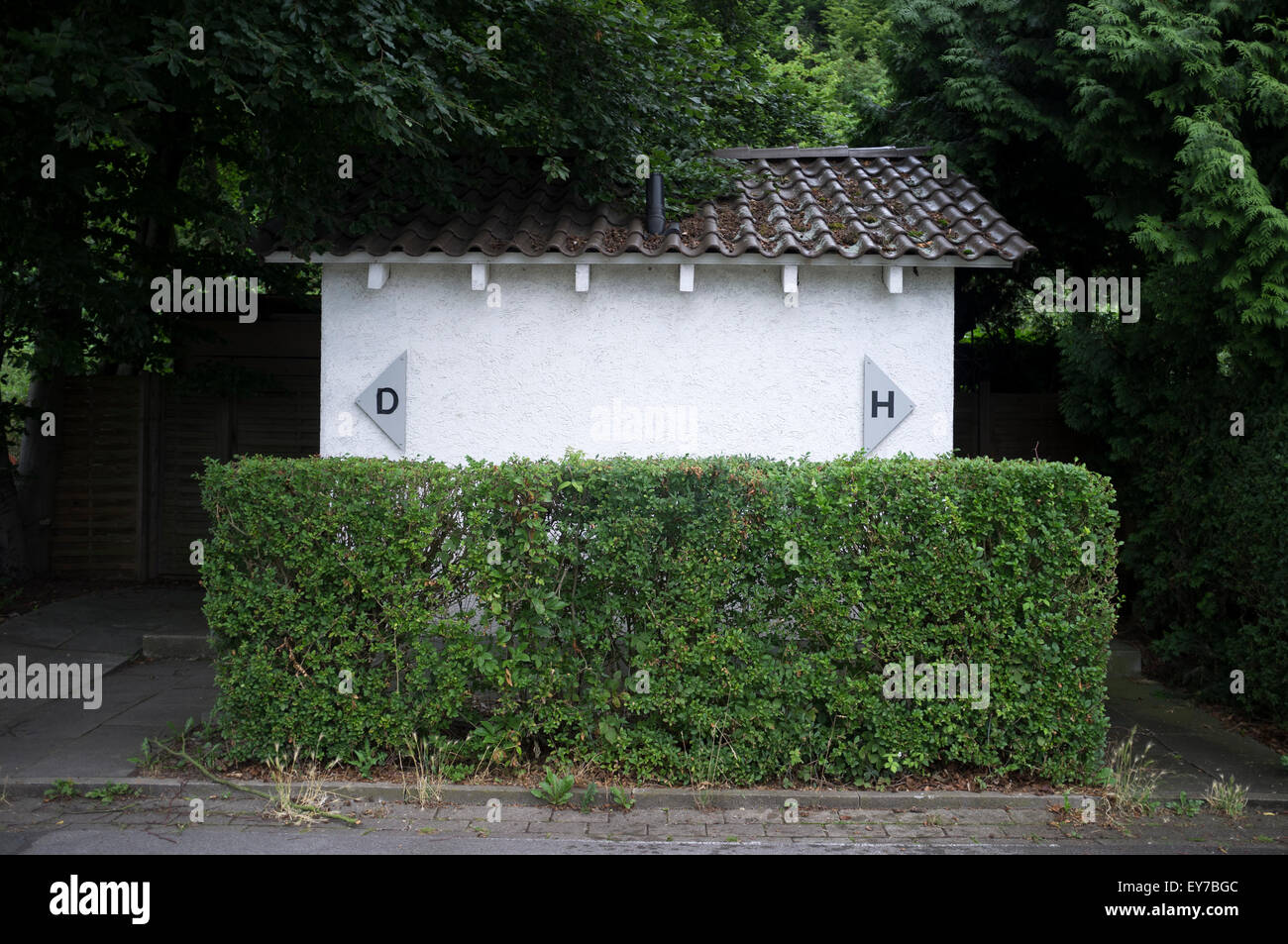 Public toilets, Herdecke, North Rhine-Westphalia, Germany. - Stock Image