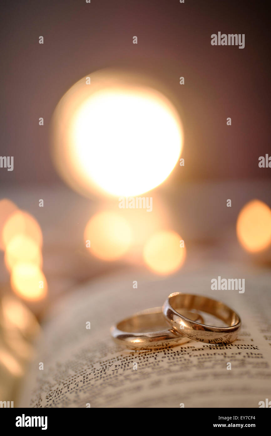 bible rings ring lake in wedding close the scripture up side background marriage and corrals