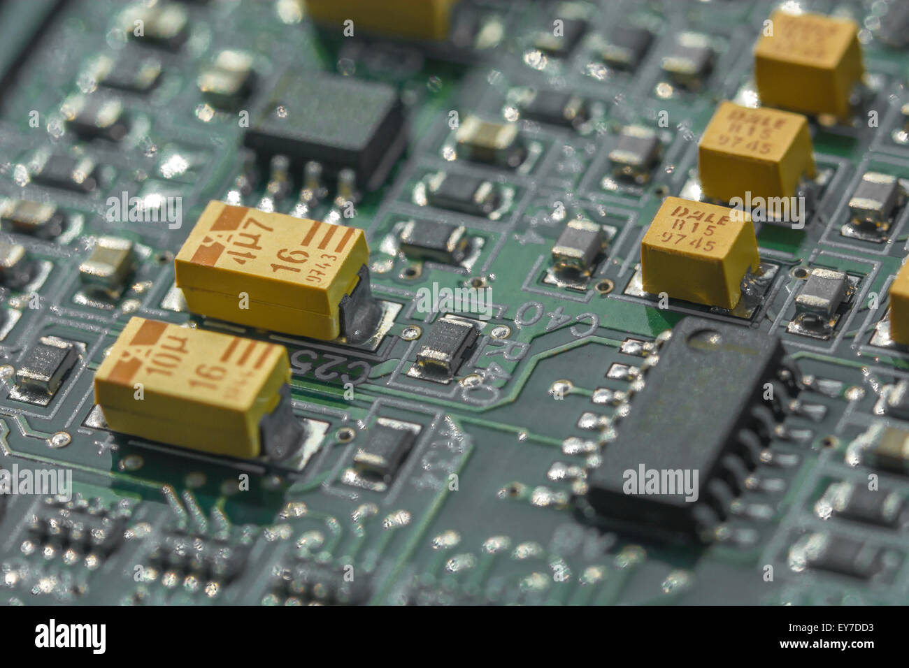 Tantalum Stock Photos Images Alamy Custom Circuit Board Pcb Printed Electronic Made Macro Photo Of Showing Yellow Rare Element