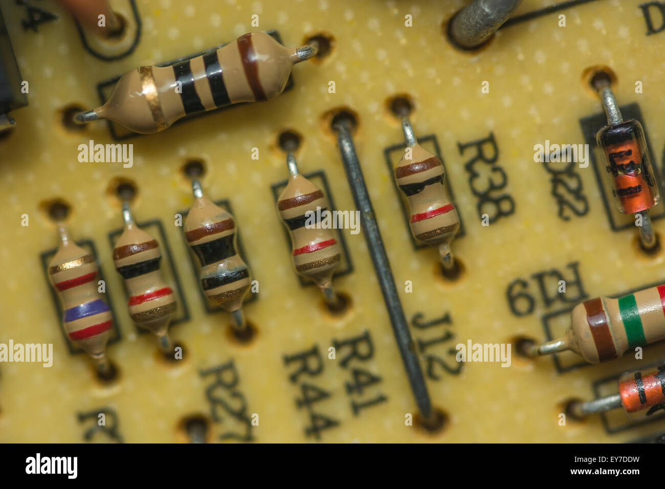 Circuit Board Soldering Resistors Stock Photos Boardpcb Mass Production Printed Product On Macro Photo Of Carbon A Pcb