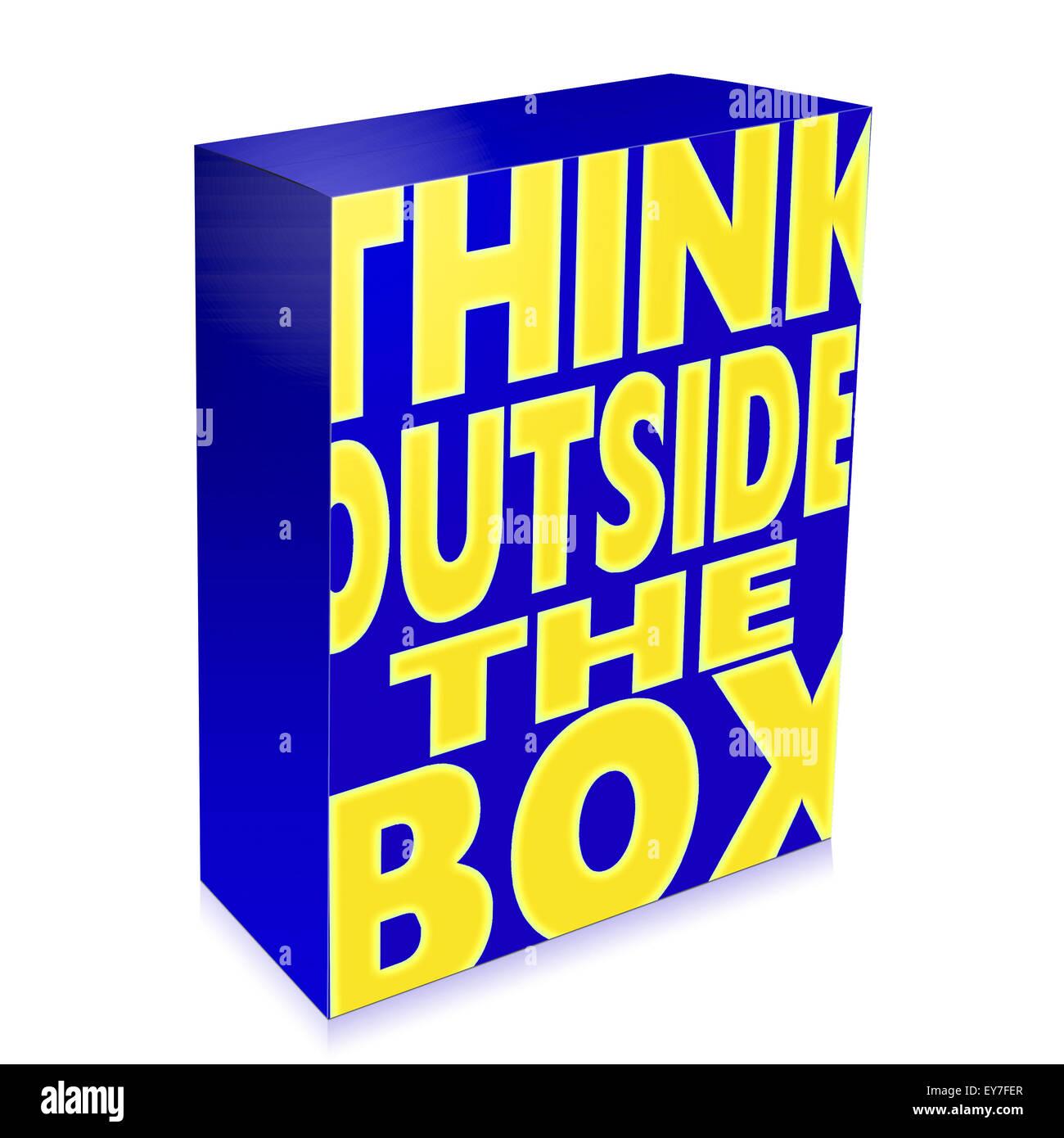 Business creativity saying - Stock Image