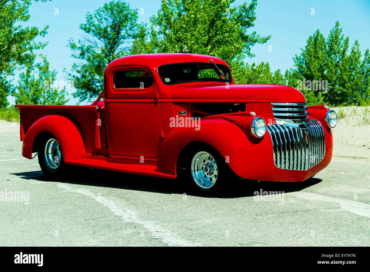 Custom Pickup Truck Stock Photos Images 1941 Mercury Pick Up Chevrolet On Pavement Image