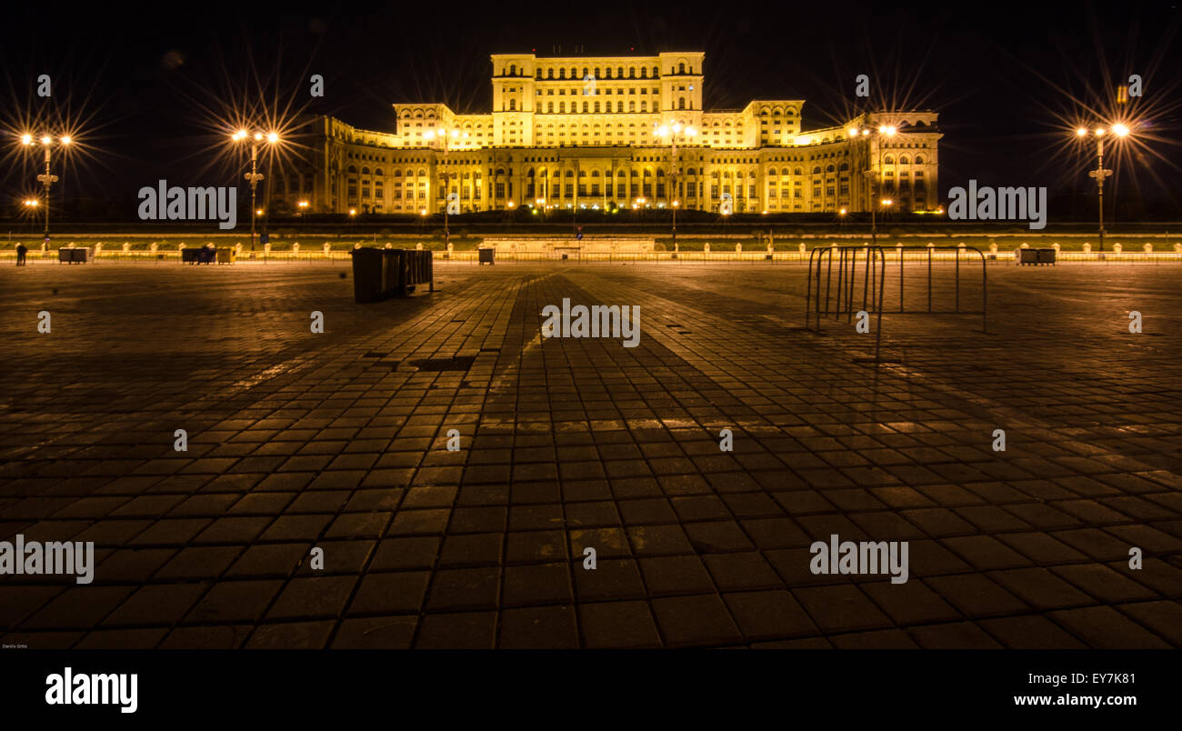 Bucharest Palace of the Parliament - Stock Image