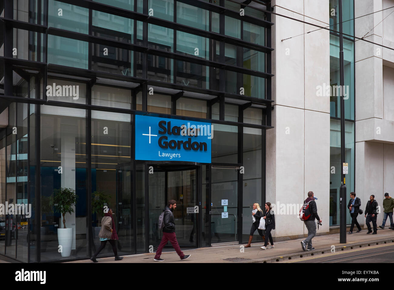 The offices of Slater and Gordon on Mosley Street in Manchester city centre UK - Stock Image
