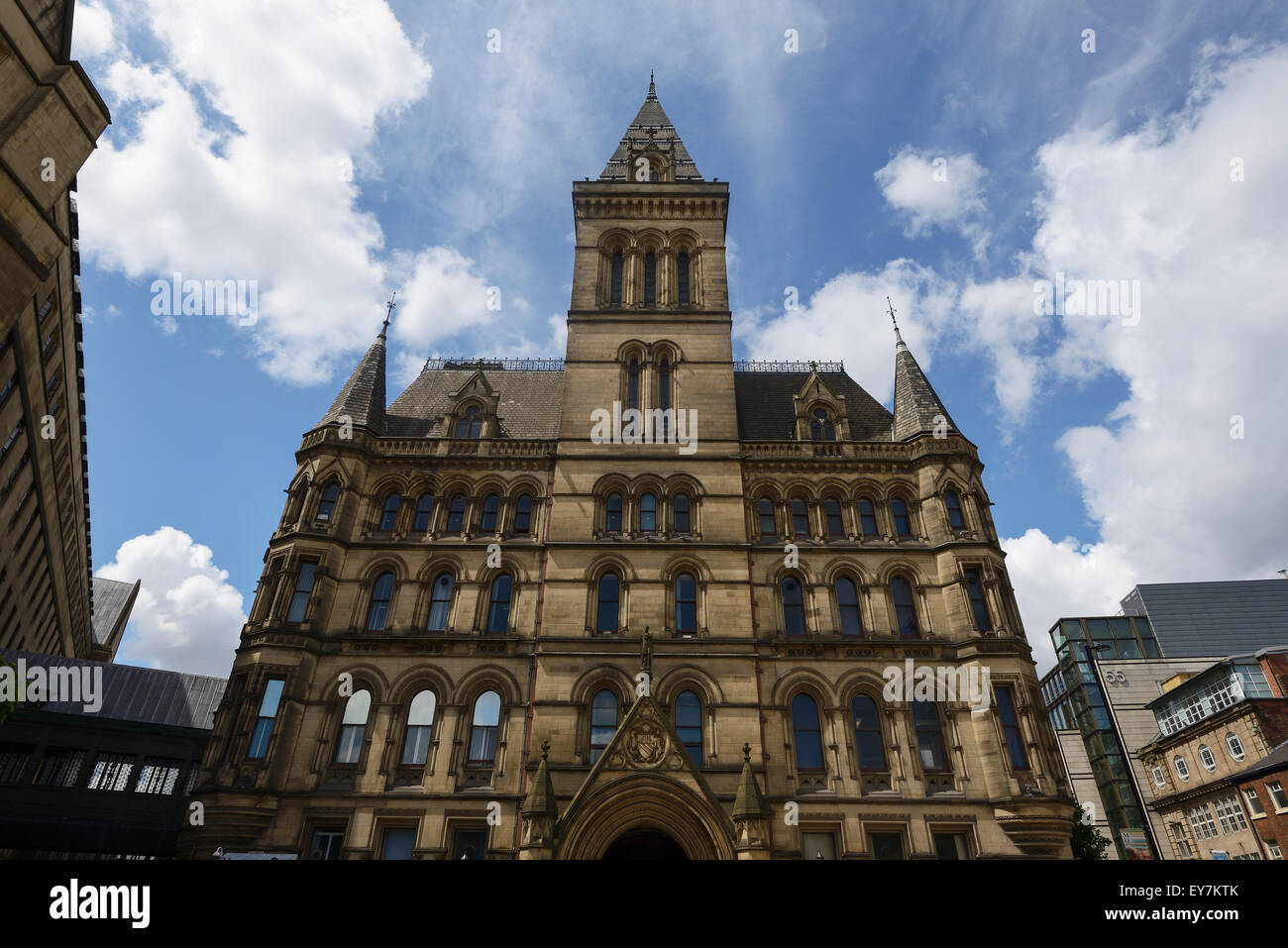 The rear elevation of Manchester Town Hall UK - Stock Image