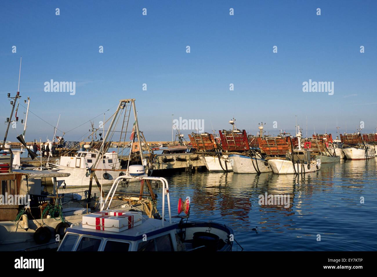 italy, le marche, san benedetto del tronto, port, fishing boats Stock Photo
