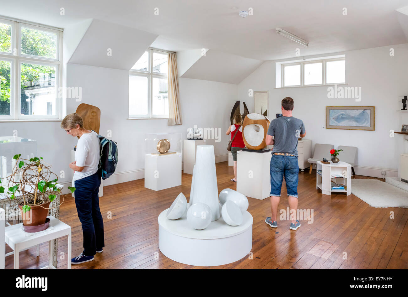 Interior of the Barbara Hepworth Museum and Sculpture Garden, St Ives, Cornwall, England, UK - Stock Image
