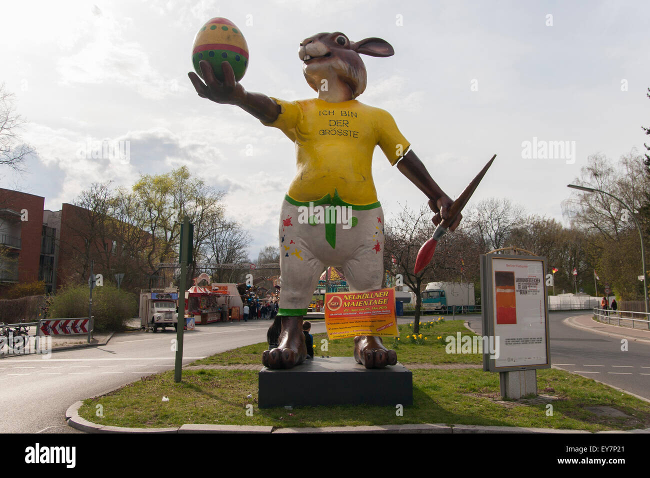 Giant Easter bunny Berlin Germany - Stock Image