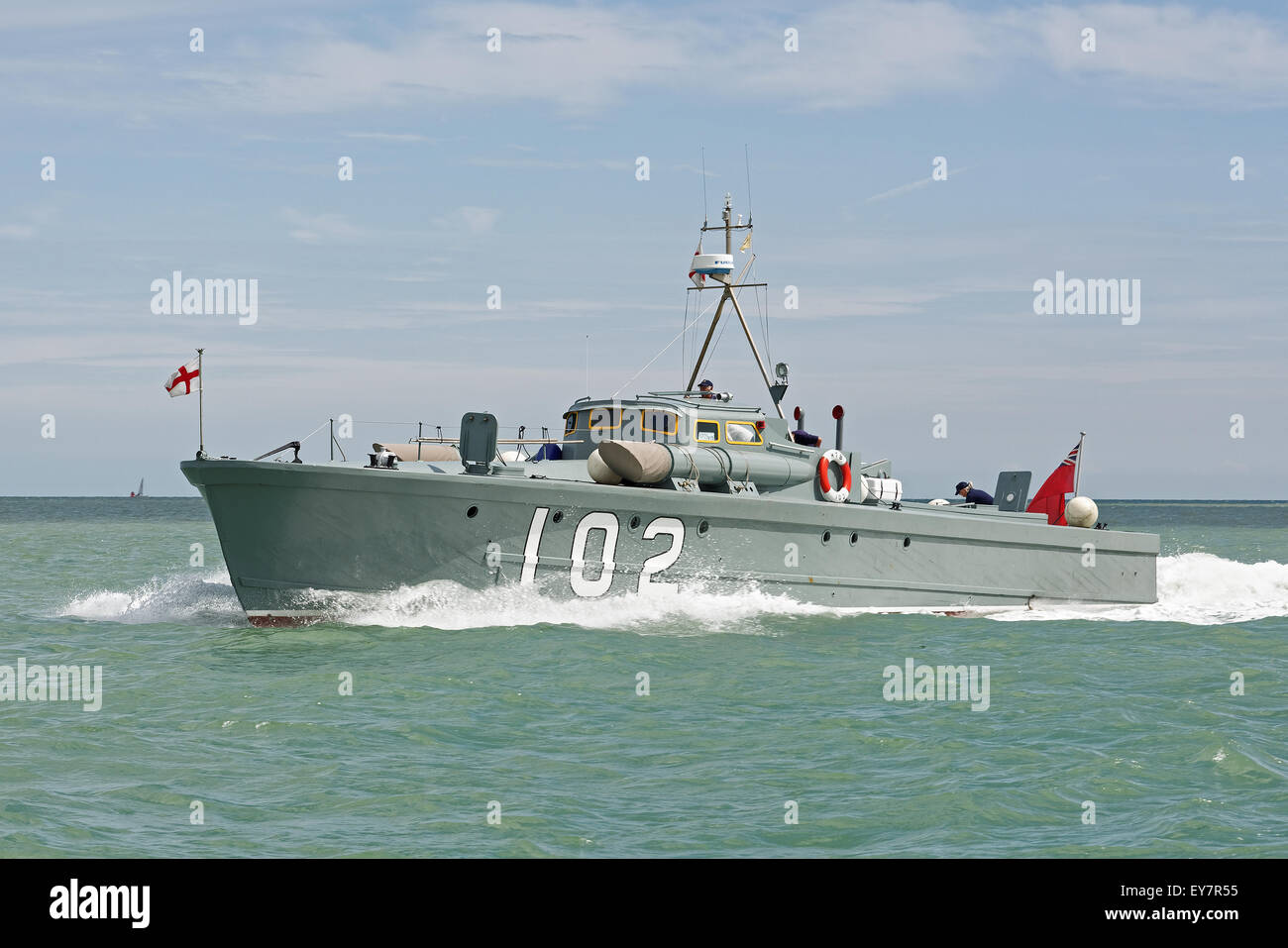 MTB 102 - built in 1937 - is one of the few remaining WW2 motor torpedo boats. - Stock Image