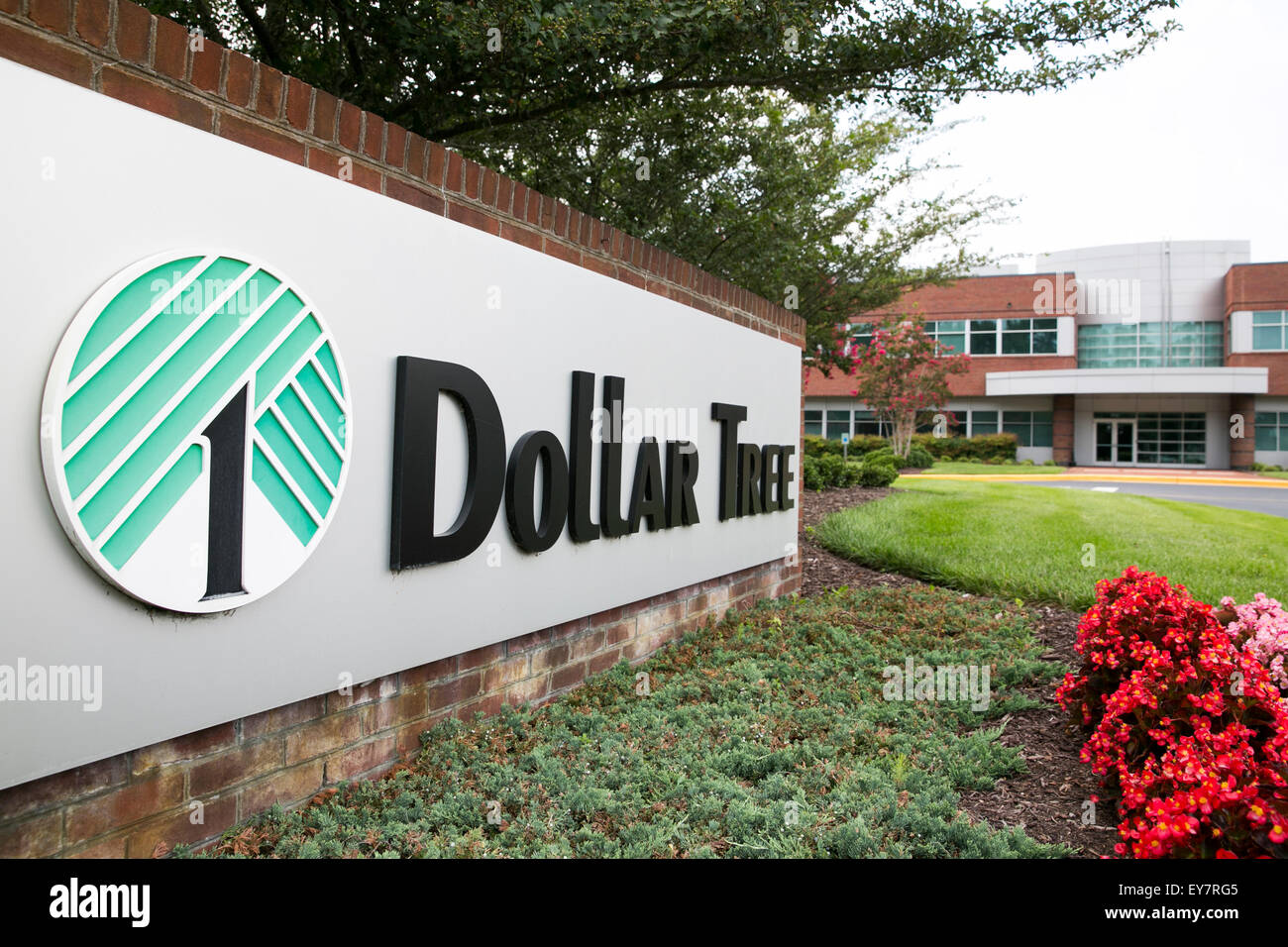 A Logo Sign Outside Of The Headquarters Dollar Tree Inc In Chesapeake Virginia On July 18 2015
