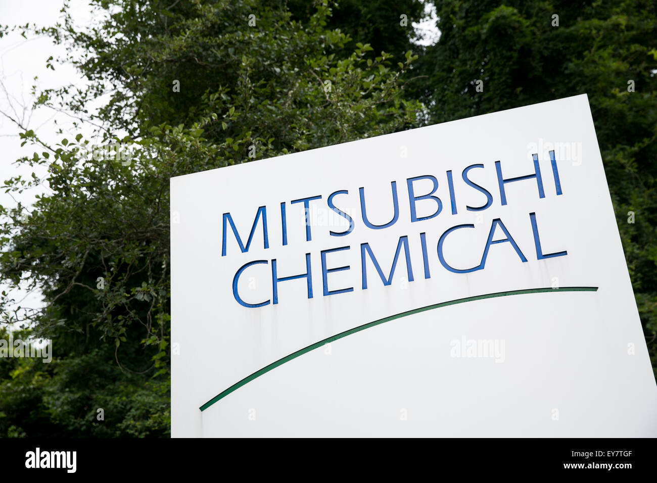 A logo sign outside of a facility occupied by Mitsubishi Chemical in Chesapeake, Virginia on July 18, 2015. - Stock Image