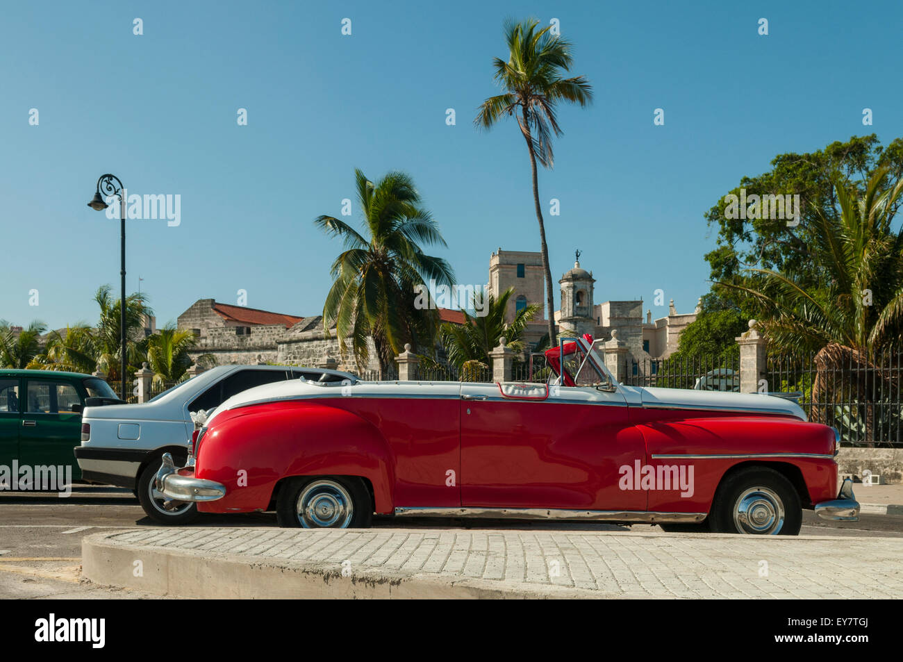 Old Convertible Car, Havana, Cuba Stock Photo: 85610130 - Alamy