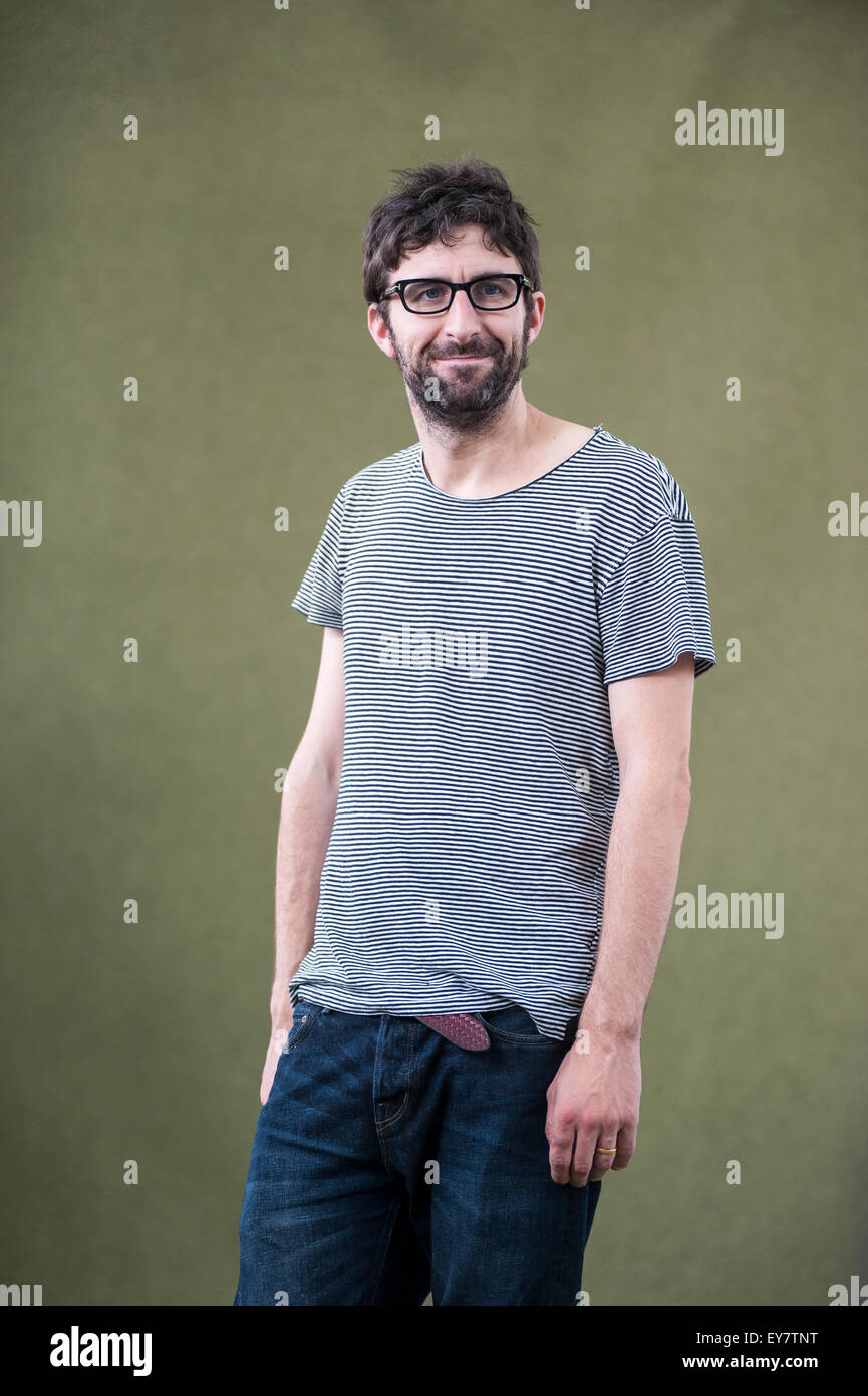 Comedian and novelist, Mark Watson, appearing at the Edinburgh International Book Festival. - Stock Image