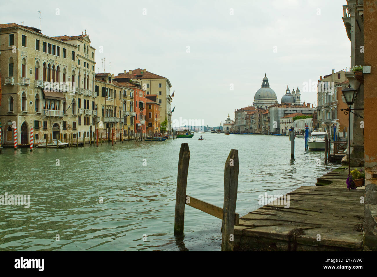Grand canal taken from underneath the Academia bridge - Stock Image