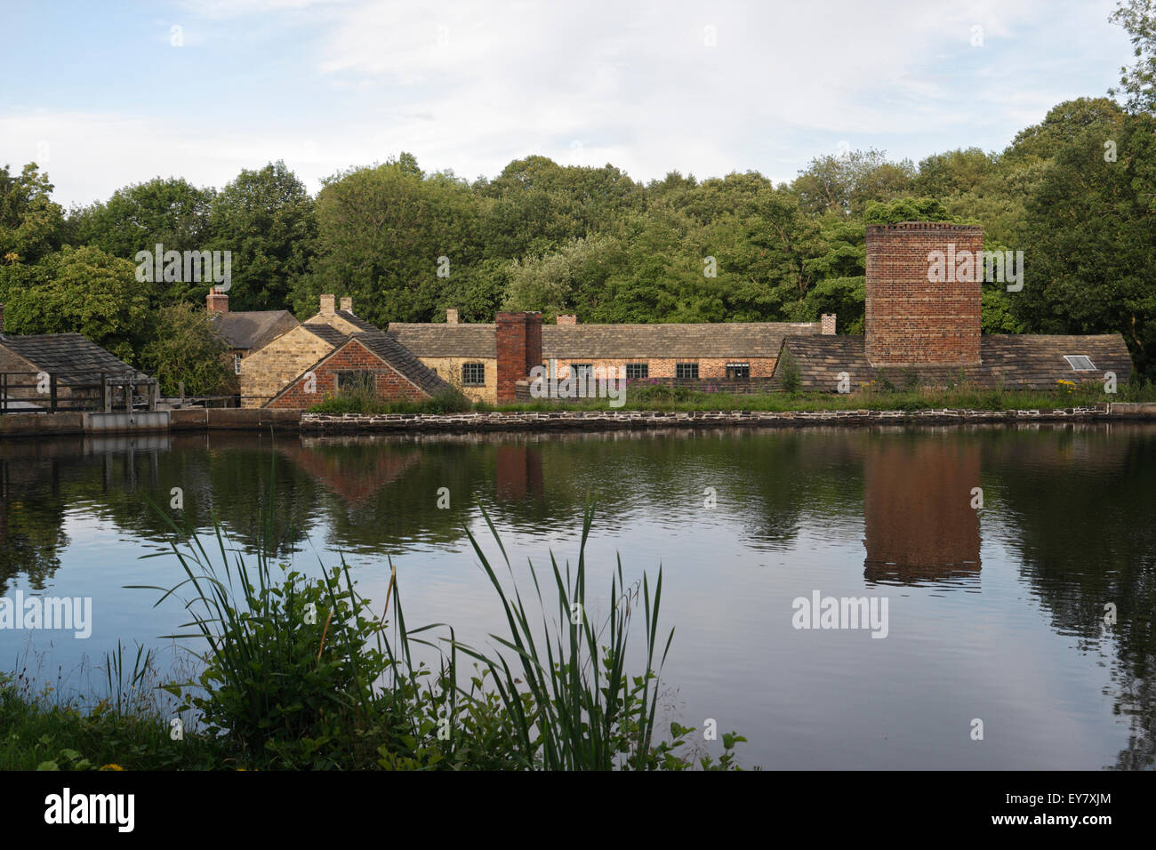 Abbeydale Industrial Hamlet and the Dam, Sheffield England - Stock Image
