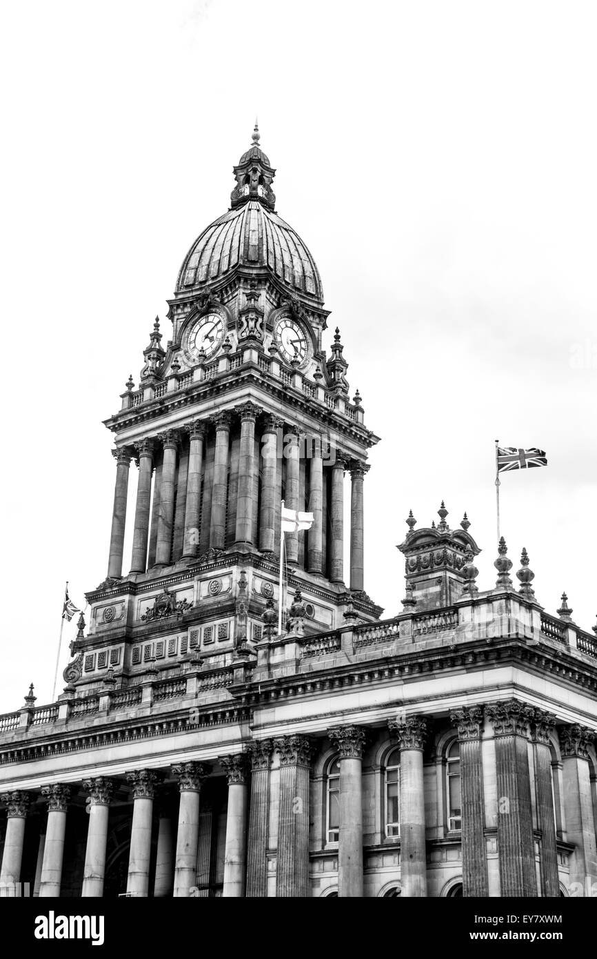 Leeds town Hall Clock - Stock Image