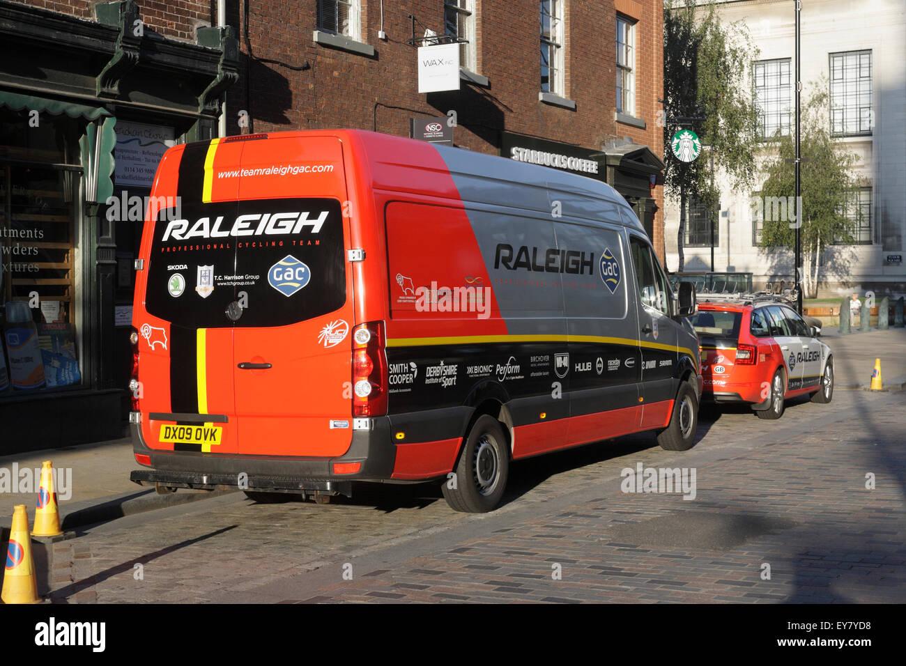 Cycling team van stock photos cycling team van stock images alamy