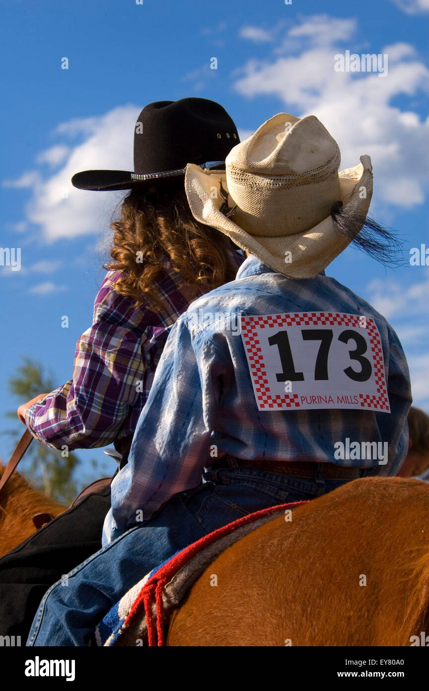 Hells Canyon Jr. Rodeo, Halfway, Hells Canyon National Scenic Byway, Oregon - Stock Image